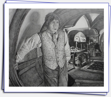 I was inspired by the movie Hobbit, Format A3, pencils Faber-Castell: 4B, pencils Koh-i-noor: 5H, 3H, 2H, B, 2B