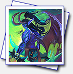 Illidan has been prepared for my friend Ruth and traveled to Costa Rica. Format A2