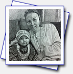 Format A4, pencils, took me 6 hours. This picture is done on request for Lulu Wang who is also on the pic with her son.