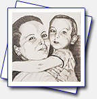 Format A4: pencils - for my cousin Veronika - it's her with her son