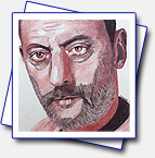 format A4 on yellow canvas with crayons artistiques... Jean Reno... I'm not really satisfied with the work I've done, I can do better..maybe it's due to the hot weather 38C