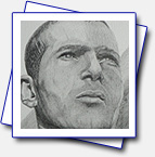 Zinedine Zidan - the football artist; Format A4; pencils: 5H, 2H, H, B, 2B, 3B